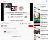 "Code.org's New ""Deep Dive"" Workshop for K-5"