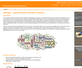 6th Grade Summer Science : Geology I - Inside the Earth and Plate Tectonics