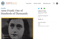 Anne Frank: One of Hundreds of Thousands