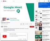 Google Meet for Instruction