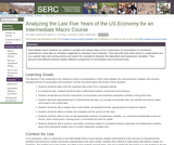 Analyzing the Last Five Years of the US Economy for an Intermediate Macro Course