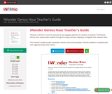 IWonder Genius Hour Teacher's Guide