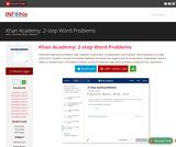 Khan Academy: 2-step Word Problems