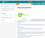 References to Find Mentors
