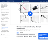 Bivariate relationship linearity, strength and direction
