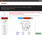 Native Tech: Culture Areas and the Locations of Tribes with Illustrated Clothing