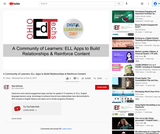 A Community of Learners: ELL Apps to Build Relationships & Reinforce Content
