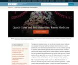 Quack Cures and Self-Remedies: Patent Medicine