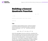 Building a General Quadratic Function
