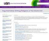Argumentative Writing/Religions of the World Unit