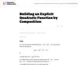 Building an Explicit Quadratic Function by  Composition