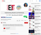 Implementing Student Led Workshops