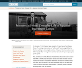 Prisoners at Home: Everyday Life in Japanese Internment Camps