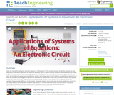 Applications of Systems of Equations: An Electronic Circuit