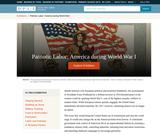 Patriotic Labor: America during World War I
