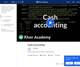 Finance & Economics: Cash Accounting