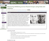 Measuring Wellbeing Across Racial Groups Using Data and Statistics