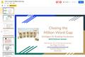 OETC20 Presentation Closing The Million Word Gap