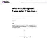 Shortest Line Segment from a Point P to a line L