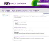 1st Grade-Act. 02: How Do You Feel Today?