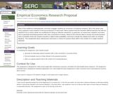 Empirical Economics Research Proposal