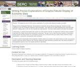 Writing Precise Explanations of Graphic/Tabular Display of Economic Data