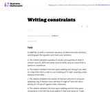 Writing Constraints