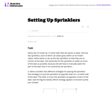 Setting Up Sprinklers