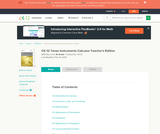 Calculus - TI Activities (Teacher's Edition)