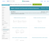 Algebra: Arithmetic with Polynomials and Rational Expressions