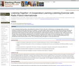 Listening Together: A Cooperative Learning Listening Exercise with Radio France Internationale